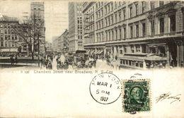 CHAMBERS STREET NEAR BROADWAY NEW YORK CITY   TRAMWAY - Trasporti