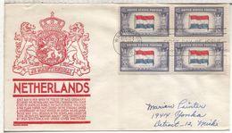 USA WASHINGTON BANDERA HOLANDA NETHERLAND FLAG - Sobres