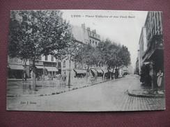 CPA 69 LYON 3 è Arrondissement Place Voltaire Et Rue Paul Bert RARE PLAN ANIMEE 1909 - Lyon