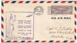 USA CC 1931 PRIMER VUELO MANDAN INDIO NATIVO NATIVE AMERICAN - American Indians