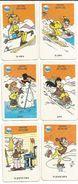 Ski, Sports D'hiver - Cartes Illustrées, Famille 'Schuss' (montagne, Neige, Luge, Patinage, Images, Humour) - Other Collections