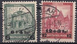 5_ Deutsches Reich - Mi.Nr. 463 + 464 - Gestempelt Used - Gebruikt