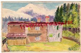 SUISSE - GRISONS - DAVOS - NEIGE D' ETE 1-9-1911- - GR Grisons