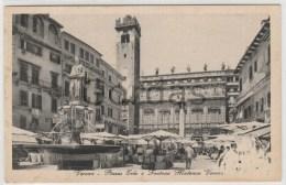 Italy - Verona - Piazza Erbe E Fontana Madonna Verona - Verona