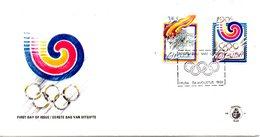 ARUBA. N°49-50 De 1988 Sur Enveloppe 1er Jour. J.O. De Séoul. - Zomer 1988: Seoel