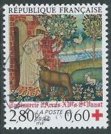 1994 FRANCIA USATO PRO CROCE ROSSA ARAZZI D'ARRAS DA LIBRETTO - R26-3 - Frankreich