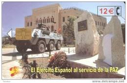 CP-260 TARJETA DE EL EJERCITO ESPAÑOL EN BOSNIA DEL 7/02 Y TIRADA 50200 - Conmemorativas Y Publicitarias