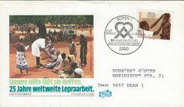 25th Anniv Of German Lepers Welfare Organisation. Fdc.    H-1168 - Enfermedades