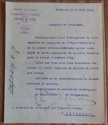 FELUY - Lettre Du Bourgmestre Concernant Indigente Française Sur Liste Des électeurs 1919 - 102 - Historische Dokumente