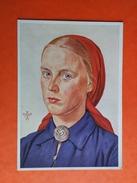 Willrich Arbeitsmaid - AK, W. Willrich, Arbeitsmaid, VDA, E 55, Künstlerkarte, 1942 - Guerre 1939-45