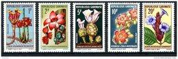 Gabon, 1969, Blossoms, Flowers, MNH, Michel 341-345 - Gabon (1960-...)