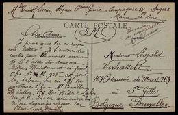 CARTE SERVICE MILITAIRE PAR DONATH LUCIEN  - SAPEUR 6ème Genie Compagnie D 28 à ANGERS ( Marne Et Loire ) - Guerre 1914-18