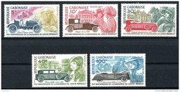 Gabon, 1977, Renault, Cars, Automobiles, MNH, Michel 629-633 - Gabón (1960-...)