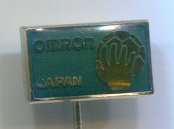 Handball, Balonmano - OMRON JAPAN, Vintage Pin, Badge, Abzeichen - Handball
