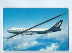 Carte - Avion - Olympic Airways - Boeing 747- 200 B - Jumbo Jet - Airplanes