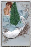 Carte Postale/ Sabot De Noél Et Sapin / Angelot Chromo/ Collages  /Vers 1910               CFA16 - Otros