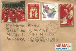 Belle Lettre De Kaohsiung,Taïwan, Adressée ANDORRA, Avec Timbre à Date Arrivée - 1945-... République De Chine