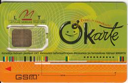 LATVIA - Okarte By LMT GSM, Used - Latvia