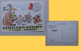 Illustrateur Barberousse, Autographe Sur CP Collection Passion Poitiers 1987  ; 960VP 36 - Manuscrits