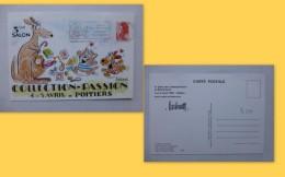 Illustrateur Barberousse, Autographe Sur CP Collection Passion Poitiers 1987  ; 961VP 36 - Manuscrits