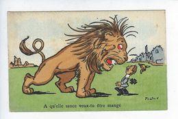 CPA Patriotique Humoristique Guerre 1914 1918 À Qu'elle Sauce Veux Tu être Mangé Savory - Humour