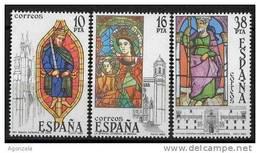 SERIE TIMBRES ESPAGNE NOUVEAUX 1983 VITRAUX DE CATHÉDRALES - Vidrios Y Vitrales