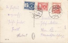 NACHPORTO ÖSTERREICH - 3 + 15 Gro Nachporto + 3 Gro Auf Ak Wandau Ennsbrücke Bei Hieflau Gel.1937 V.Hieflau N.Wien - Portomarken