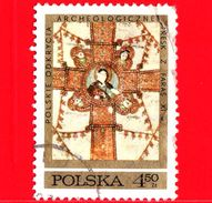 POLONIA - POLSKA - Usato - 1971 - Archeologia - Scavi Archeologici Polacchi In Nubia - Croce - Evangelisti - 4.50 - 1944-.... République