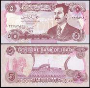 IRAQ 5 DINARS 1992 P 80b UNC - Iraq