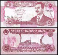 IRAQ 5 DINARS 1992 P 80c UNC - Iraq