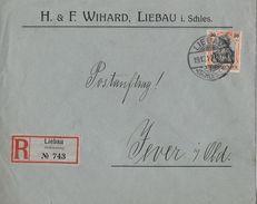 1912 DEUTSCHES REICH - R-Brief Liebau Von H. & F. Wihard Nach Jever - Lettres & Documents