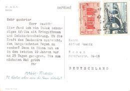 AFRIQUE OCC. FRANCAISE - PICTURE POSTCARD -> ESSEN/GERMANY - A.O.F. (1934-1959)