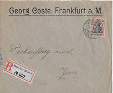 1912 DEUTSCHES REICH - Postauftrag Georg Coste, R.Brief Frankfurt Nach Jever - Lettres & Documents