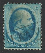 Netherlands, 5 C. 1864, Sc # 4, Mi # 4, Used. - Period 1852-1890 (Willem III)