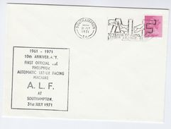 1971 Southampton AUTOMATIC LETTER SORTING Anniv  EVENT Gb Stamps Gb Post - Post