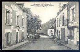 Cpa Du 72 Saint Leonard Des Bois -- Entrée Du Bourg   SEP17-25 - Saint Leonard Des Bois