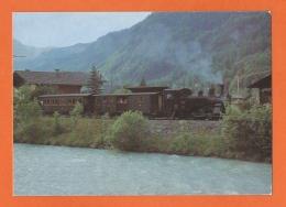 Dampflokomotive, Locomotive à Vapeur, Damoflok HG 3/31067 (ex Brünig) Strecke Innertkirchen Ballenberg-Dampfbahn -Brienz - Trains