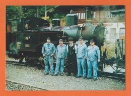 Dampflokomotive, Locomotive à Vapeur, Personal BDB, Lok 1067 (ex Brünig) 1910 Ballenberg Dampf-Bahn-Brienz - Trains