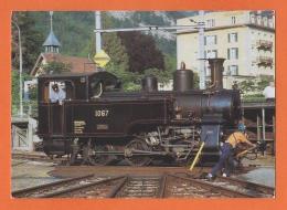 Dampflokomotive, Locomotive à Vapeur, Dampflok HG 3/3 1067 (ex Brünig) 1910 Drehscheibe Giswil - Trains