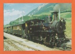 Dampflokomotive, Locomotive à Vapeur, Dampfzug Der BDB AG Strecke Interlaken - Grindelwald - Trains