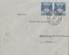 SAO PAULO 1937 - Letter From Sao Paulo  To Schaffhausen Suissa - Lettres & Documents