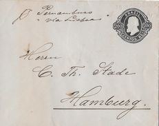 BAHIA 1892 - Letter Franz Wagner To Hamburg - Entiers Postaux