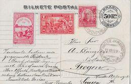 RIO DE JANEIRO 1908 - Centenario Da Abertura Dos Portos To Trogen Suissa - Entiers Postaux