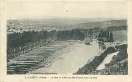 58 - CLAMECY - Le Port En 1869 Avec Les Derniers Trains De Bois - Clamecy