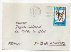 Roumanie-1978-Lettre De CLUJ-NAPOCA Pour ASNIERES-92(France) -timbre DACIADA (handball) Seul Sur Lettre -cachet CLUJ - 1948-.... Républiques