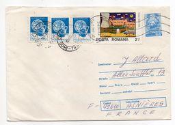 Roumanie-1987-Lettre De CLUJ-NAPOCA Pour ASNIERES-92(France) -entier + Timbres -cachet CLUJ - 1948-.... Républiques