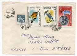 Roumanie-1986-Lettre De CLUJ-NAPOCA Pour ASNIERES-92(France) -tps Oiseaux(Audubon)+JO Los Angeles (tir) -cachet CLUJ - Cartas