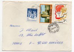 Roumanie-1986-Lettre De CLUJ-NAPOCA Pour ASNIERES-92(France) -timbres JO Los Angeles (canoe-halthérophilie.)-cachet CLUJ - Cartas