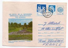 Roumanie-1985-Lettre De CLUJ-NAPOCA Pour ASNIERES-92(France) -Entier+timbres-cachet CLUJ-VOINESTI DIMBOVITA - Cartas