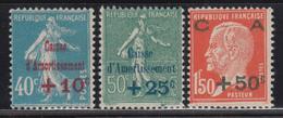 1927   YVERT Nº 246 / 248  , MHN - France